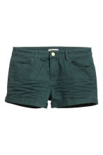 Twill shorts - Dark green - Ladies | H&M GB 2