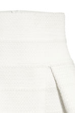 Textured skirt - White - Ladies | H&M CN 3