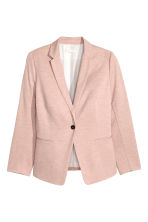H&M+ Fitted jacket - Powder pink - Ladies | H&M CN 2