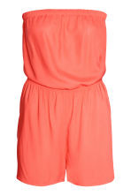 Strapless playsuit - Orange - Ladies | H&M CN 1