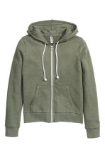Hooded jacket - Khaki green - Ladies | H&M CN 2