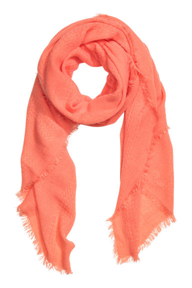 Fringed scarf  - Apricot - Ladies | H&M CN 1