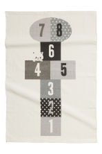 Print-motif cotton rug - White - Home All | H&M CN 1