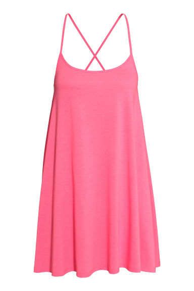 Short jersey dress - Pink - Ladies | H&M CN 1