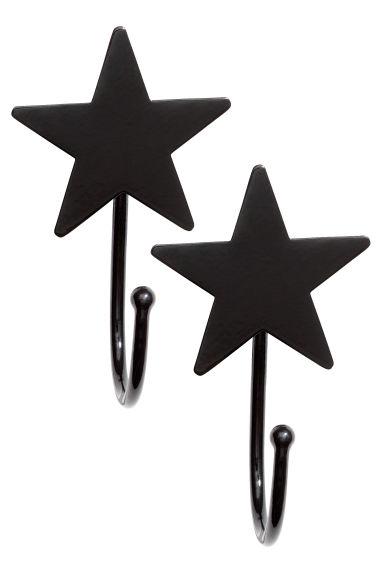 2-pack hooks - Black - Home All | H&M CA 1