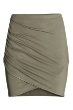 Draped skirt - Khaki green - Ladies | H&M CN 2