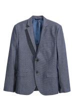 Blazer Oxford Slim fit - Blu scuro - UOMO | H&M IT 2