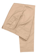 Suit trousers in cotton - Beige - Men | H&M CN 3