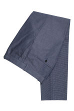 Oxford weave suit trousers - Dark blue - Men | H&M CN 3