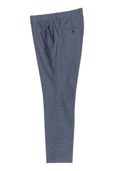 Oxford weave suit trousers