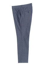 Oxford weave suit trousers - Dark blue - Men | H&M CN 2