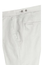 Linen-blend suit trousers - Light grey - Men | H&M CN 3