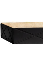 Rectangular wooden tray - Black - Home All | H&M CN 2
