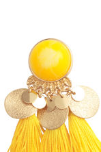 Earrings with tassels - Yellow - Ladies | H&M GB 2