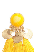 Earrings with tassels - Yellow - Ladies | H&M GB 3
