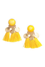 Earrings with tassels - Yellow - Ladies | H&M GB 1