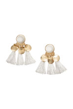 Earrings with tassels - White - Ladies | H&M GB 1