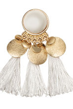 Earrings with tassels - White - Ladies | H&M GB 2