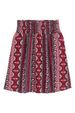 Patterned skirt - Dark red/Patterned - Ladies | H&M CN 2