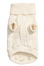 Jacquard-knit dog jumper - Natural white - Ladies | H&M CN 2