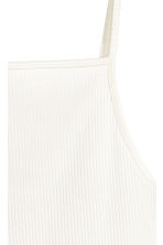 Ribbed top - White - Ladies | H&M CN 4