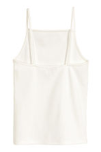 Ribbed top - White - Ladies | H&M CN 3