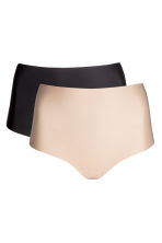 2-pack shaping string briefs - Black/Chai - Ladies | H&M 2