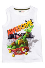 Printed vest top - White/Turtles -  | H&M CN 2