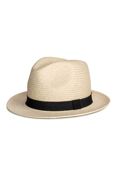 Straw hat - Natural white - Men | H&M 1