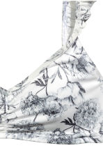 Patterned bikini top - White/Floral - Ladies | H&M CN 4