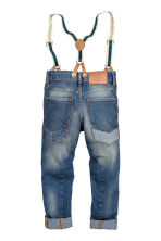 Tapered Jeans with braces - Denim blue - Kids | H&M CN 3