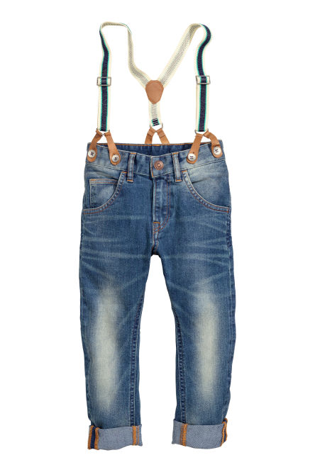 Tapered Jeans with braces