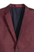 Linen-blend jacket Slim fit - Burgundy - Men | H&M CN 3