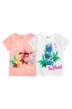 2-pack jersey tops - White/Angry Birds - Kids | H&M CN 2