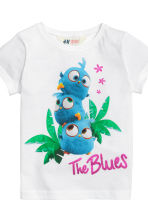 2-pack jersey tops - White/Angry Birds - Kids | H&M CN 4