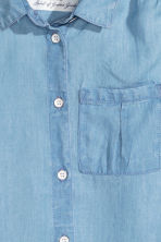 Sleeveless blouse - Light denim blue - Kids | H&M GB 3