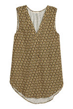 Sleeveless blouse - Black/Patterned - Ladies | H&M CN 2