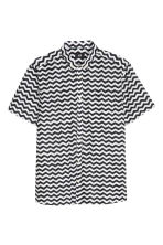 Short-sleeved cotton shirt - White/Patterned - Men | H&M CN 2