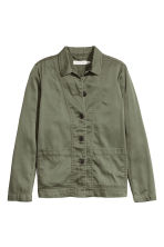 Twill jacket - Khaki green - Ladies | H&M CN 2