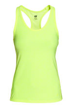 Sports top - Neon yellow marl - Ladies | H&M GB 2