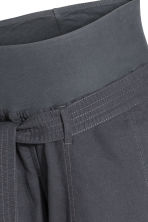 MAMA Linen-blend trousers - Dark grey -  | H&M 7
