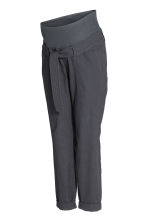 MAMA Linen-blend trousers - Dark grey -  | H&M 5
