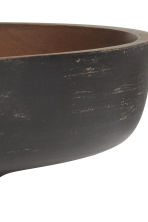 Round wooden bowl - Anthracite grey/Brown - Home All | H&M GB 4