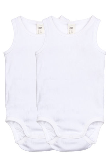 2-pack bodysuits - White - Kids | H&M