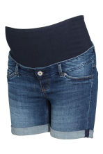 MAMA Denim shorts - Dark denim blue - Ladies | H&M GB 2