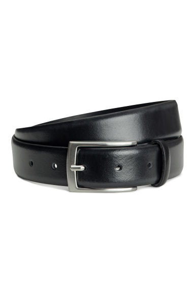 Leather belt - Black -  | H&M IE