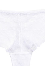 Lace half-string briefs - White - Ladies | H&M CN 3