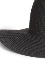 Straw hat - Black - Ladies | H&M 2