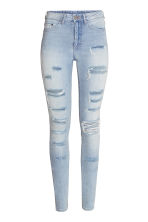 Skinny High Trashed Jeans - Light denim blue - Ladies | H&M CN 2