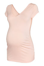 MAMA V-neck jersey top - Powder pink - Ladies | H&M CN 2